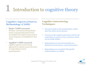 1 Introduction to cognitive theory