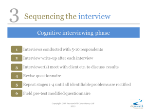 3 Sequencing the interview