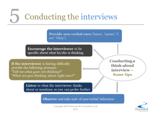 5 Conducting the interviews