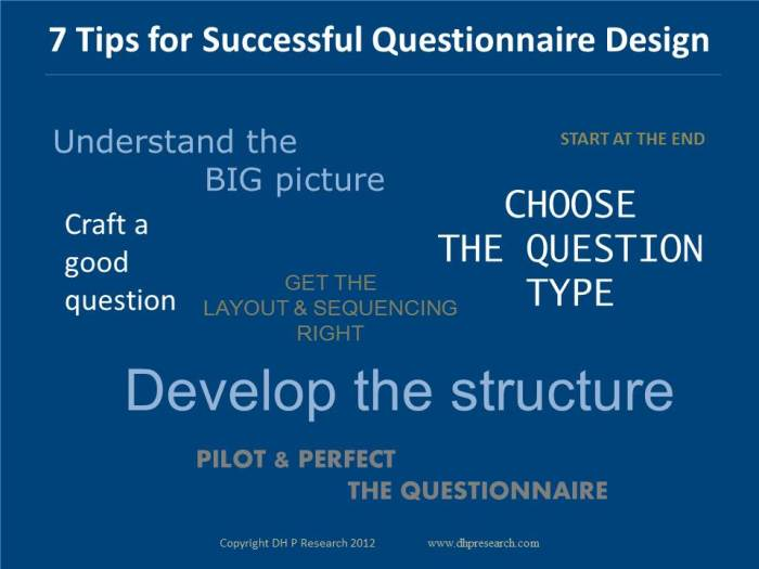 7 Tips for Successful Questionnaire Design Infographic