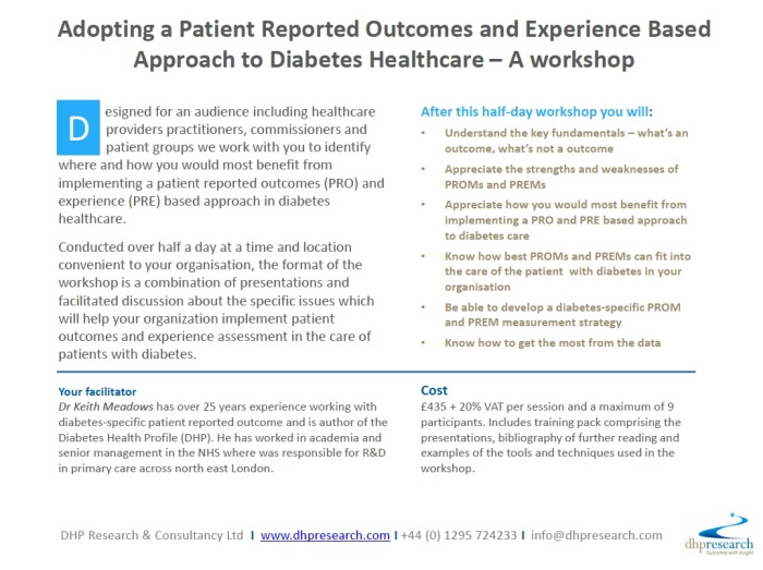 Diabetes Patient Outcomes and Experience Workshop