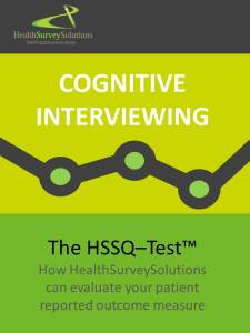 Cognitive interviewing in the PRO development - TheHSSQ-Test