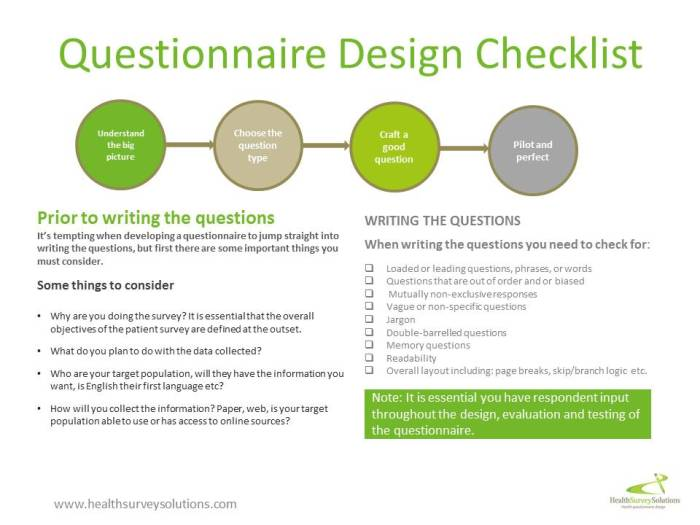 how to develop a survey questionnaire