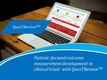 Patient–focused outcome measurement development in clinical trials with QuesTReviewTM